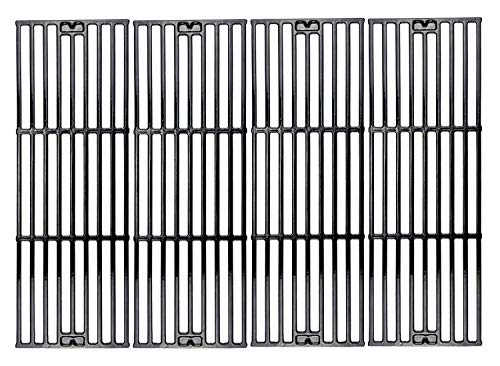 Hisencn Porcelain Cast Iron Cooking Grates Replacement for Chargriller Duo 5050, 2121, 2123, 2222, 2828, 3001, 3030, 3725, 4000, 5050, 5252, 5650 Gas Grill Models Set of 4 Grill Grids