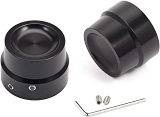 PBYMT Black Front Axle Nut Covers Caps Compatible for Harley Softail Fat Boy Touring Electra Street Glide Road King 2002-2020