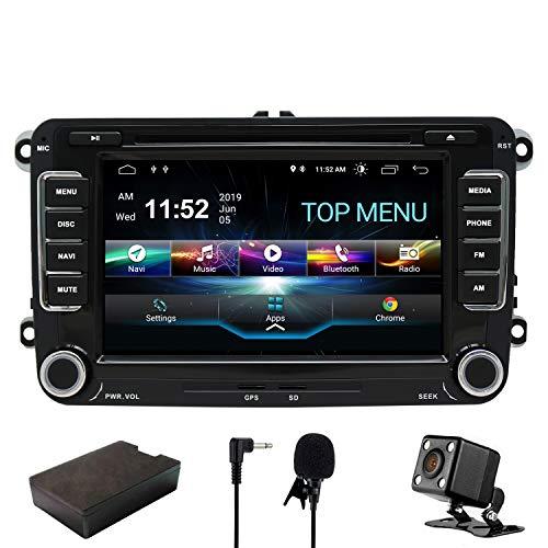 SWTNVIN Android 9 Auto Audio Stereo Kopfeinheit passt für Volkswagen Skoda DVD Player Radio 7 Zoll HD Touchscreen GPS Navigation mit Bluetooth WiFi Lenkradsteuerung 2GB + 16GB