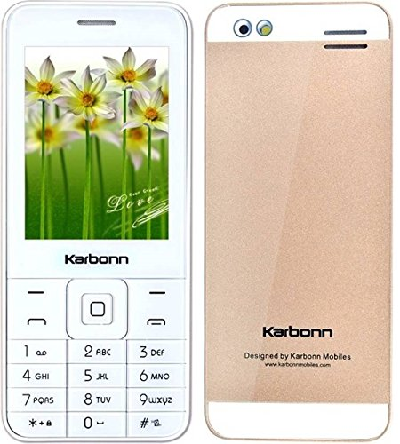 Generic Karbonn Mobile KPHONE 6.1 Cm Sharp Screen + 1.3 MP Camera + 1400 mAh Strong Battery + (Dual Sim,Chamapagne White)