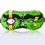 Sleep Mask Hulk Green Universe Comics Character for Children Kids Boy Man- Sleeping mask 100% Soft Cotton - Night Eye Sleeping Cover Blindfold (Hulk Green, Plastic Pack)