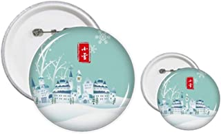 Snow Twenty Four Solar Term Pattern Pins Badge Design Kit de Loisirs Créatifs