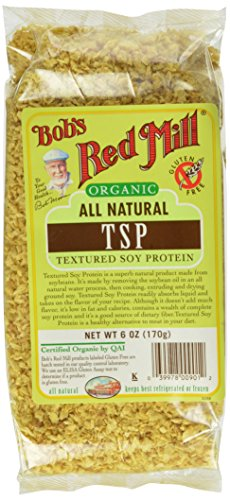 Bob's Red Mill Organic Textured Soy Protein (TSP), 6-ounce (Pack of 4)