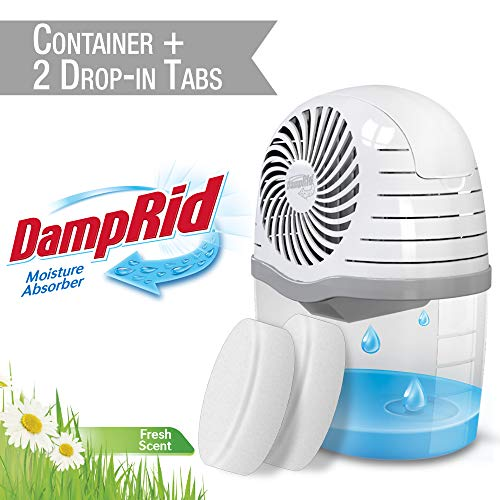 Buy DAMPRID DR Drop Container + 2 FS TABS-SIOC Moisture Absorber, 2 Count, White, 15 Ounces