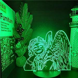 Beautiful Gift Illusion Night Light,My Hero Academia Hawks 3D LED Anime LAMP Nightlights Boku no Hero Academia