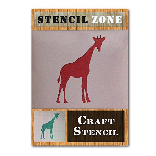 Giraffe Wild Animal Zoo Mylar Airbrush Malerei Wand-Kunst-Handwerk-Schablone 1 (A6 Größe Stencil - XXSmall)