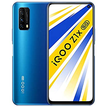 Original IQOO Z1x 6G+128GB 5G Mobile Phone Snapdragon 765G 6.57inch 120Hz Screen 5000mAh Android 10 33W Super VOOC 48.0MP Global ROM Cellphone by-(Real Star Technology) (Blue 6+128)