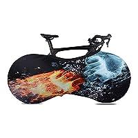 Tickas バイクプロテクターカバー、バイクプロテクターカバーMTBロード自転車アンチダストホイールフレームカバーバイクスクラッチプルーフストレージバッグ