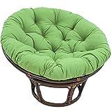 POETRY Cojín para Silla Egg Nest con Lazos Thicken Papasan Cojín para Silla Impermeable Redondo Swing Chair Cojines Alfombrilla para Hamaca Colgante V 40x40x10cm (16x16x4inch)