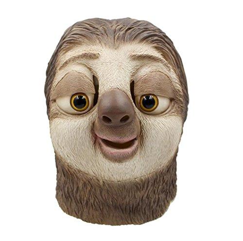 Latex Sloth Head Mask