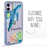 Guard Dog Custom Clear Cases for iPhone 11 – Personalized Sea Animal – Put Your Name on a Designer Phone Case – Sea Turtle