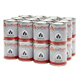 Real Flame Gel Fuel Cans - 24-Pack - Gelled Isopropyl Alcohol for Indoor or Outdoor Fireplaces