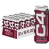 C4 Smart Energy Sugar Free Energy Drink 16oz (Pack of 12) - (New) Black Cherry - Performance Fuel &...