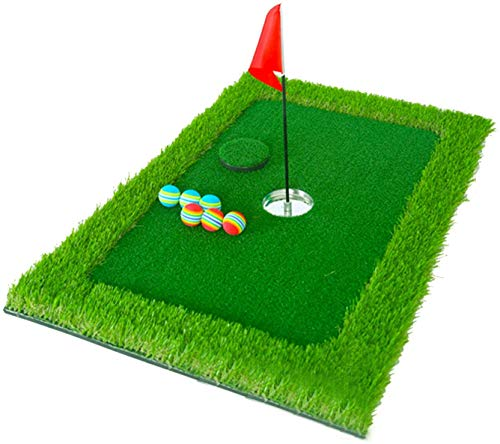 TOKUJN Turf Backyard Simulator Game, Green Green Floating Green For Pool, 35x23inch Golf Putting Green Chipping (Color : Upgraded Version)