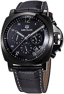 ساعة للرجال من ميجر، سوار جلد، كرونوغراف، M-3006