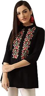 LIBAS Women Straight Front A-line Kurti   Ladies Kurta Top Blouse Shirt   Ethnic Indian Pakistani Dress   Casual Formal Tr...