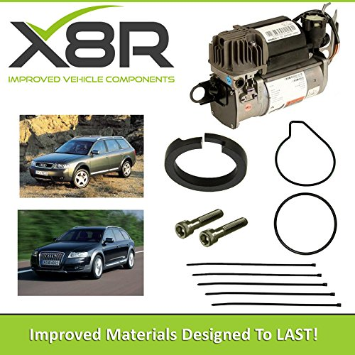 X8R AIR SUSPENSION COMPRESSOR PISTON RING REPAIR FIX KIT COMPATIBLE WITH AUDI ALLROAD C5 2000-2005 AND AUDI ALLROAD C6 2006-2011 MODELS WITH WABCO AIR SUSPENSION PART: X8R45