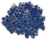 95 canicas azules de cristal con ojos de gato de 16 mm, piedras de cristal, para rellenos de jarrones, canicas azules, piedras brillantes decorativas, juego de canicas