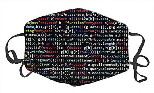 Mundschutz Gesichtsdekoration Bandanas Anti-Staubschutz Schal Outdoor Biker Reiten Bandana Gr. One size, Javascript Code Hacking Programmer