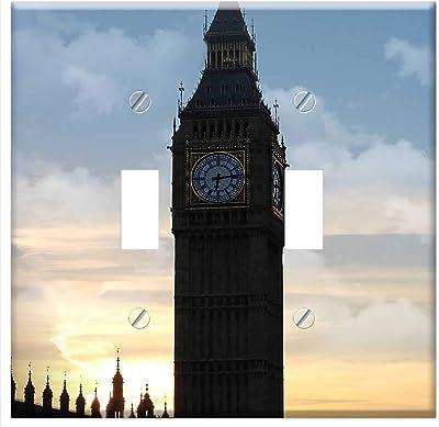 3dRose lsp/_82737/_2 England Big Ben Clock Tower Eu33 Cmi0303 Cindy Miller Hopkins Double Toggle Switch London