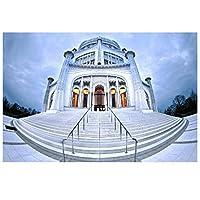 バハイ寺院シカゴポスタープリントアートワークギフトウォールアートポスターキャンバス絵画ホームリビングルームの装飾ギフト寝室の装飾-50x70CMフレームなし