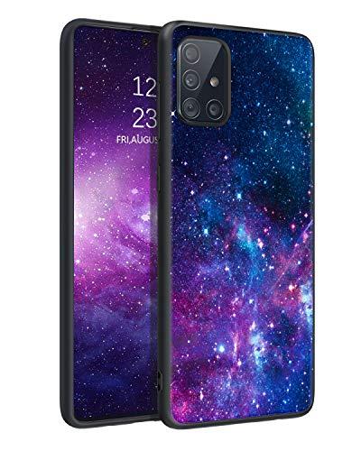 BENTOBEN Samsung Galaxy A71 5G Phone Case [NOT Fit UW Verizon],Slim Fit Glow in The Dark Shockproof Drop Protective Hybrid Hard PC Soft TPU Bumper Girls Women Cover for Galaxy A71(2020),Nebula/Galaxy