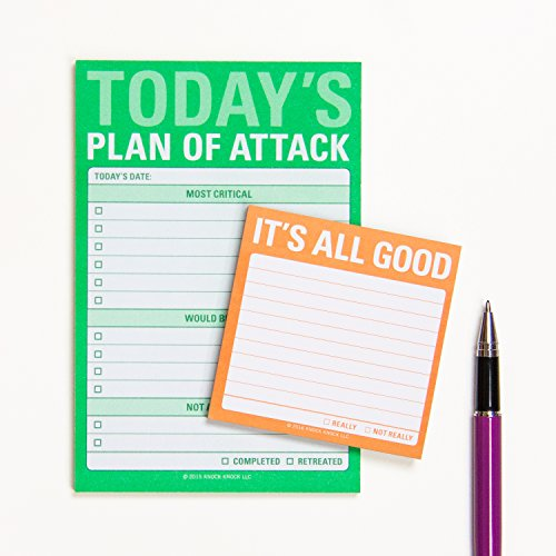 Knock Knock Plan of Attack Great Big Sticky Note, Daily to-Do List Sticky Pad, 4 x 6-inches Photo #4