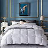 UMI. Essentials White Goose Feather and Down Duvet with 100% Cotton Down-Proof Fabric