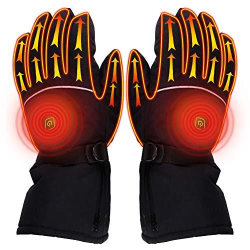 Xnuoyo Elektrische Beheizbare Handschuh Beheizte Handschuhe Herren Und Damen Winterhandschuhe Wird In Wintersportarten Wie Skifahren, Motorradfischen Usw. Verwendet.