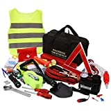 Sailnovo Car Emergency Kit, 99 in 1 Multifunctional Roadside Assistance Car Breakdown Kit with Jumper Cables,...