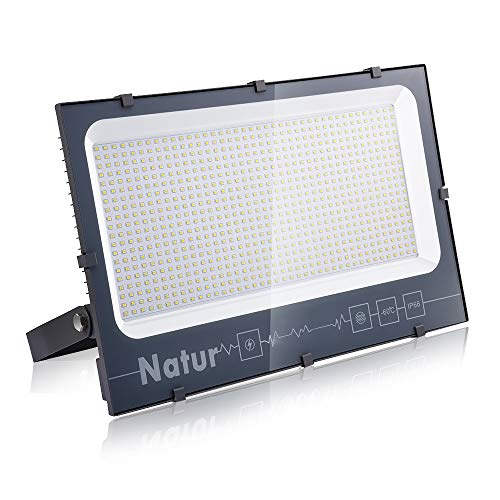 500W LED Outdoor Floodlight, LED Security Lights 50000LM, IP66 Waterproof Wall Lights Outside, Warm White LED Flood Light 3000K Spot Lamp Work Lighting For Garden Garage Backyard Parking lot Warehouse
