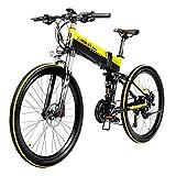 Carsparadisezone Bicicletta Elettrica Pieghevole Assistita 400W 26 Pollici 35 km/h per Uomo Donna City Bike Bici da Montagna in Alluminio 48V 10,4AH Batteria Litio Schermo LCD [Stock EU]