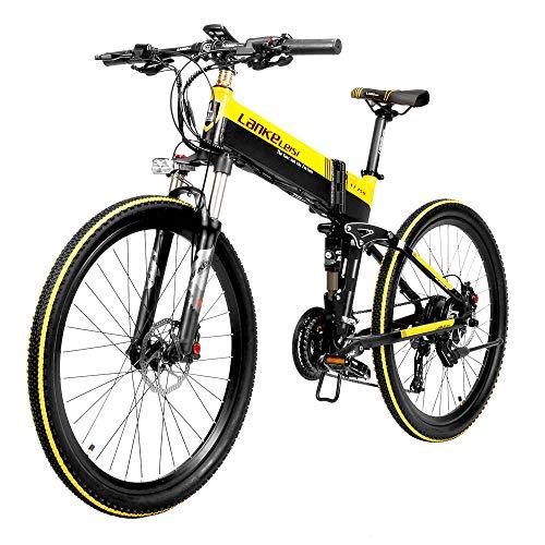 Elektrofahrrad Ebike Mountainbike Klapprad 26 Zoll mit 48V 10,4Ah Lithium-Akku, 400 W Motor 35 km/h, Elektrische E-Bike für Herren Damen Zoom BH875 Bremse