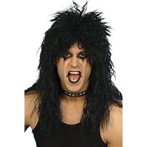 Peluca estilo rockero de 1980, accesorio para disfraces