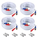 4-Pack 100ft BNC Video and Power Security Camera Cable with BNC Connectors and...