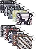 10 Pieces Small Coin Purse Boho Change Purse Pouch Mini Wallet Coin Bag with Zipper for Women Girls (Snakeskin Series)
