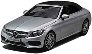 GCM 1:18 Mercedes - Mercedes-Benz C-Class Sedan Model Simulation Alloy Car Model Collection Male Birthday Gift Collection Home Decoration ( Color : Silver )