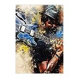 Qqwer Gary Clarks Jrs Singer Posters E Impresiones Lienzo Arte De La Pared Pintura Impresa Cuadros Decoración Del Hogar-50X70Cmx1Pcs -Sin Marco