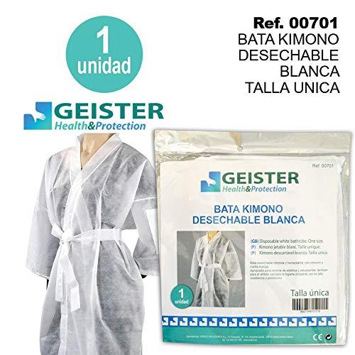 Sodico 00701 Bata Kimono Desechable Blanca Talla Unica