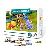 KKASD Winnie the Pooh-1000 Piece Jigsaw Puzzles for Adult Kids Wooden Family Game Stress Reliever Difficult Challenge Puzzle for Kids Adults 75x50cm