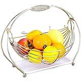 Plato de frutas - Rejilla grande para secar platos, rejilla para platos enrollable, multiusos, plegable, de acero inoxidable, sobre el fregadero, escurridor de cocina, para tazas, frutas, verduras