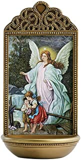 """Angel Guardian Angel Holy Water Font - Marco Sevelli - 3""""W x 6""""H - YC915"""