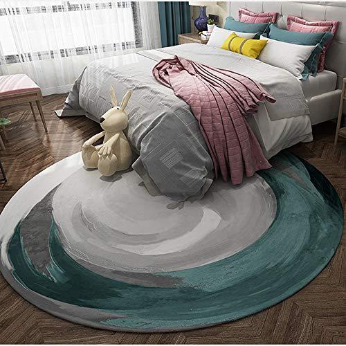 SWNN Carpet Nordic Modernen Minimalistischen Runden Bequemen Teppich Verdickung Computer Stuhl Drehstuhl Korb Matten Rutschig Weichen Wohnzimmer Schlafzimmer Studie Teppich (Size : 160)