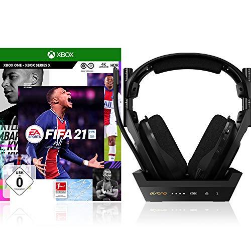 Electronic Arts FIFA 21 Standard Edition Xbox One + ASTRO Gaming A50 Auriculares Inalámbricos con estación-base de carga, 4ta gen, para PC / Xbox Series X|S / Xbox One