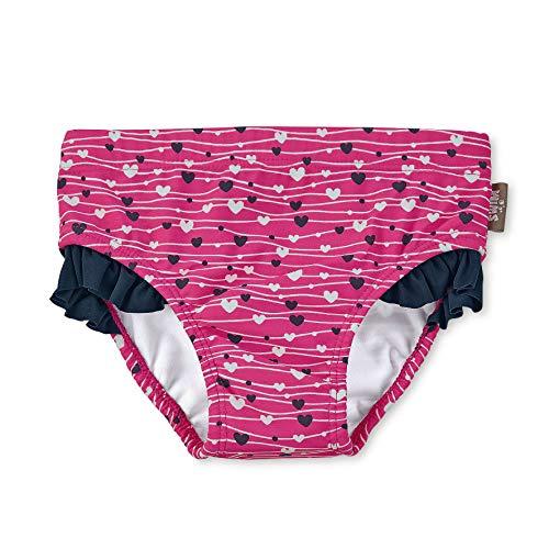 Sterntaler Mädchen Badehose mit Windeleinsatz, UV-Schutz 50+, Alter: 2 - 3 Jahre: Größe: 86/92, Farbe: Magenta