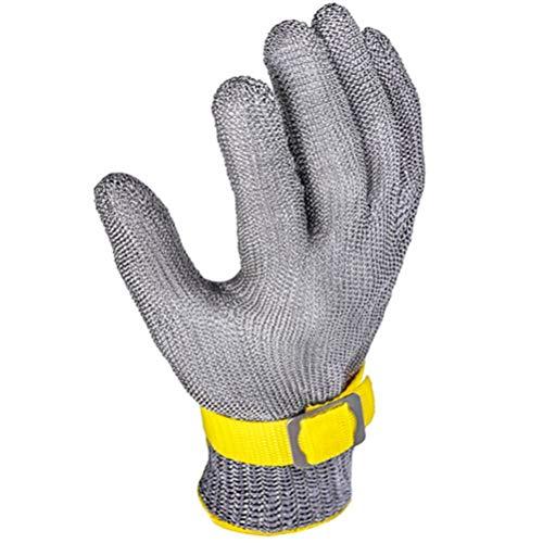 Schnittfeste Handschuhe-XHZ Single Steel Wire Metall Eisenhandschuhe, Anti-Schneid-Fleischschneiden aus Edelstahl und Fisch tötende Handschuhe. Schützen Sie Ihre Hände. (Size : Medium)