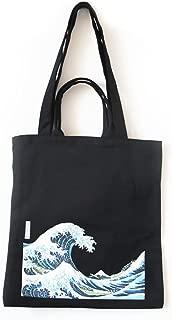 ASAPS Canvas Tote Bag Black Print Design