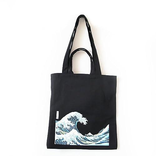 ASAPS Canvas Tote Bag Black Print Design ed280de5aa6e1