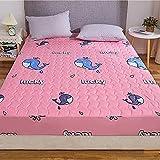 BOLO Suave cama hecha de 100% algodón, protector de colchón transpirable, cubrecolchón, colchón, almohadilla de colchón transpirable, 120 x 200 + 28 cm