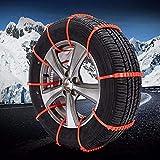LXGANG Cadenas 10pcs de coche de invierno Neumáticos Ruedas nieve del neumático de nieve antideslizantes cadenas Cadena de neumático de la rueda de la correa de cable de invierno al aire libre de emer